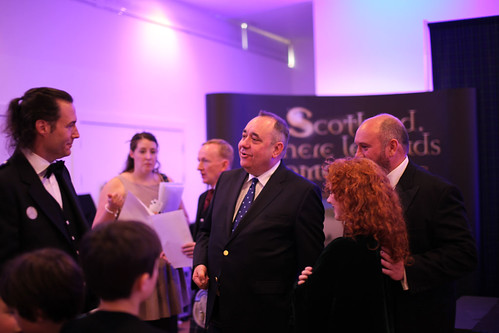 First Minister Alex Salmond and Mark Andrews at the Drinks Reception at the Surgeon's Hall
