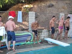 IMG_0254 (CAHairyBear) Tags: shirtless man men uomo mann hombre homme poolparty hom