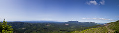 Atop Grass Mt. (PatrickCain) Tags: road blue trees sky panorama white mountain tree green nature grass rock clouds oregon photography log rocks mt open view stitch cut ripple pano hill logging patrick fresh sharp clean clear trail gradient rolling grassy cain compose