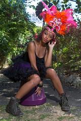(DonDr) Tags: pink light orange white color colour green canon model eyes purple photoshoot feathers makeup 7d barbados lipstick tutu cropover bajan kadooment 2470f28l orchidworld dondre kimsmakeupservices