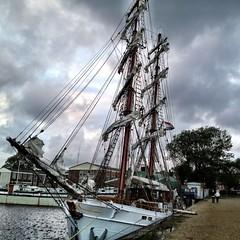 Brigg Aphrodite (5) (janbommes) Tags: travel sailing northsea windjammer aphrodite tallship oostende dover dunkerque calais vlissingen harwich segeln ramsgate brigg iphoneography