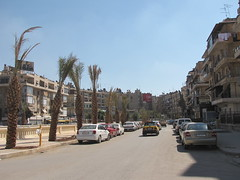 a Central street in  Aleppo,Syria (Alexanyan) Tags: auto street republic parking arabic arab syria aleppo syrian   middleast