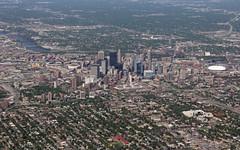 Minneapolis Aerial [Explored!] (MSPdude) Tags: minnesota skyline skyscraper canon downtown minneapolis aerial wellsfargo ids metrodome targetcenter capella explored t2i targetfield 33s6th