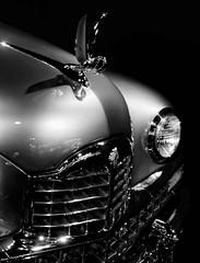 Untitled (Dennis Herzog) Tags: blackandwhite cars monochrome car colorado grill gateway autos museums hoodornaments classiccars automobiles collectorcars gatewayautomuseum mygearandme
