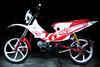 Honda XRM125 (left side view) (macarhign) Tags: honda offroad motorcycle motard xrm hondaxrm125 xrmmotard macarhign fairingdesign redandwhitexrm xrmoffroad