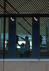 Father & Son (rickihuang) Tags: china 3 man airport father capital beijing son terminal international payphone   capture   pek    zbaa