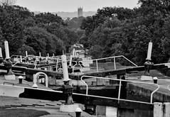 Hatton Locks towards Warwick (bennatrinsphoto) Tags: mono blackwhite nikon adobe desaturated nikkor afs dx lightroom lightroom3 d5100