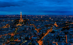Paris Night Skyline (davecurry8) Tags: nightphotography sunset paris france skyline eiffeltower invalides montparnasse tourmontparnasse