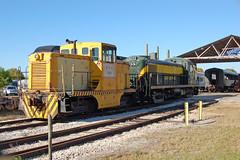 U. S. Navy (6500345); Florida Gulf Coast Railroad Museum No. 100, (GE 44-Ton) and New York Central Railroad No. 8277, (RS-3), Florida, Wimauma, Florida Railroad Museum (EC Leatherberry) Tags: railroad florida usnavy switcher alco touristtrain newyorkcentralrailroad rs3 hillsboroughcounty americanlocomotivecompany lococmotive floridarailroadmuseum ge44tonner generalelcetric44 floridagulfcoastmuseum