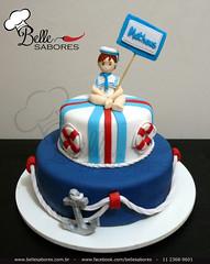 Ahhh se eu fosse um marinheiro!!! (Belle Sabores) Tags: cake azul de pasta vermelho americana bebê bolo menino boia chá âncora masculino marinheiro