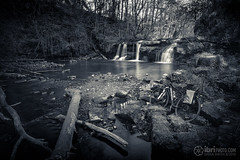 Linn Mill Falls (delphwynd) Tags: bike bicycle cycling commute boardman handlebars ndfilter clackmannan nd1000 linnmill blackdevon boardmanbikes 30daysofbiking springintothesaddle