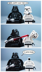Happy Star Wars Day! (pong0814) Tags: blue vertical comics fun toys starwars lego sony may cybershot story actionfigures stormtrooper pointandshoot panels vader darthvader 2016 starwarsday minifigures maytheforcebewithyou maythe4th rx100