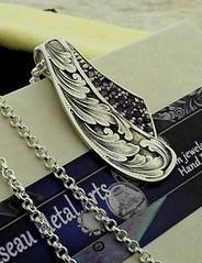 DSCF2284-2 (oiseaumetalarts) Tags: amethyst sterlingsilver customjewelry handengraved