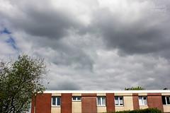 Grey (Maddily M.G.) Tags: houses light sky sun sunlight nature clouds lumire ciel nuages urbain btiments nuageux