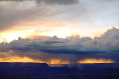 DSC_0018 powell point storm at sunset hdr 850 (guine) Tags: sunset storm clouds rocks grandcanyon canyon hdr luminance grandcanyonnationalpark qtpfsgui