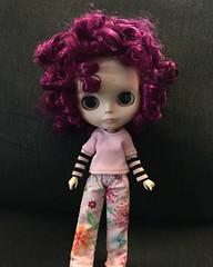 Vivien's hair is a little more curly than I expected.  #vivien #curlyhair #blythecustom #egsworld #dollphotography (wubbiebat) Tags: curlyhair vivien dollphotography blythecustom egsworld