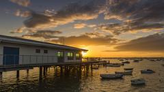 Sandbanks (Simon Cresdee [www.simoncresdeephotography.com]) Tags: uk sunset sea england sky sun water boats boat nikon sundown may dorset sandbanks poole 2470mm d810
