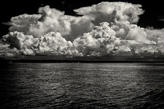 Nuvole ad est (Paolo Perco Thank you all for + 1.000.000 visits!!) Tags: blackandwhite bw panorama seascape landscape blackwhite bn thesea biancoenero trieste ilmare