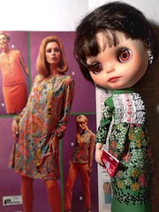 Blythe-a-Day May#8: Your Mother Should Know: Teen Model Nylah & Granny Dresses
