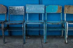 Azules (Carlows) Tags: blue color azul mxico neza bleu silla escuela blau sillas primaria xochiaca