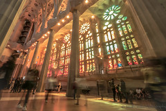 Stained Glass Ghosts (smallcirclesphotography) Tags: barcelona travel windows colour church glass familia spain architechture europe cathedral stained gaudi ghosts sagrada