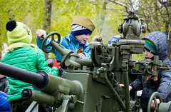 / Children playing with military vehicles (Abs0lute2010) Tags: old childhood soldier army war gun child tank russia military wwii victory siberia armor weapon artillery warrior ribbon ussr infancy tomsk carelessness armament