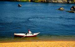 A man who is but a dream (chemakayser) Tags: azul río river barco nile egipto aswan nilo