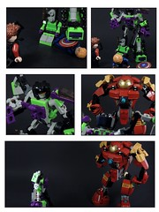 Marvel vs Giant Part 2 (MrKjito) Tags: man america giant iron comic lego armor captain duel buster hawkeye vs minifig hulk marvel titan avengers crossover devastator