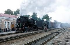 L-4600 + L3055  Mena  01.10.02 (w. + h. brutzer) Tags: analog train nikon eisenbahn railway zug trains steam l locomotive gus mena dampflok lokomotive eisenbahnen dampfloks webru