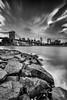 Cloudburst over NYC (Avisek Choudhury) Tags: nyc bw newyork brooklyn landscape cityscape brooklynbridge gitzo leefilters nikond800 avisekchoudhury acratechballhead leebigstopper nikon1635mm avisekchoudhuryphotography