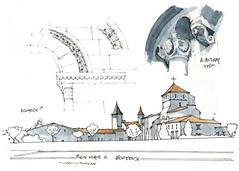 Aulnay, Ecoyeux (gerard michel) Tags: france sketch roman glise croquis poitoucharentes