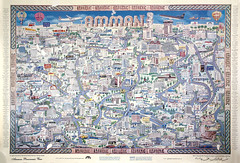 Amman map 1995 (alazaat) Tags: vintage map amman panoramic arabic nineties