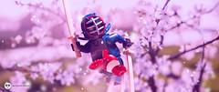 fruit ninja (Young's Lego) Tags: lego legography photo photography ninja fruit apple mini minifigure japan blossom pink sword cut