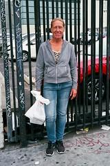 Woman with white bag (ADMurr) Tags: leica film la fuji district 200 pinata m6 dtla