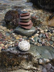 Stones on the beach at Fallen Rocks near North Sannox, Isle of Arran. (kyliepics) Tags: olympus e520 evolt520 darktable olympuszuikodigital1122mmf2835
