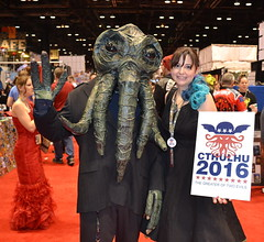 C2E2 Comic Con 2016 (Vinny Gragg) Tags: costumes girls signs chicago girl sign monster comics costume illinois cosplay president killer dungeonsanddragons cthulhu comicbook superhero octopus comicbooks jessicarabbit monsters superheroes dungeonsdragons comiccon hplovecraft prettygirls villian villians chicagoillinois prettywoman mccormickplace sexywoman supervillian c2e2 thecallofcthulhu supervillians chicagocomiccon chicagocomicentertainmentexpo comiccon2016