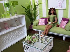 """Spring Fever"" (Abigail's Joy) Tags: fashion doll furniture handmade barbie handcrafted royalty springfever playscale barbiesizefurniture 16scalelivingroom dollhouselighting"