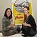 Amanda Salem and writer Jordan Catapano at Jordan Winery's 4 on 4 Art Competition at Hadid Gallery on April 11