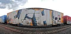 ICH Wholecar (208 Bench) Tags: art train graffiti paint rail spray 63 yme boxcar graff ich freight ichabod wholecar circlet