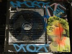 Zen (cocabeenslinky) Tags: street city uk england urban woman streetart london pasteup art canon poster graffiti artist grafitti power shot photos south graf united capital kingdom tunnel powershot smoking east waterloo zen graff leake hs 2012 se1 artiste curlers sx220 cocabeenslinky cocabeenslinky