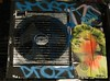 Zen (cocabeenslinky) Tags: street city uk england urban woman streetart london pasteup art canon poster graffiti artist grafitti power shot photos south graf united capital kingdom tunnel powershot smoking east waterloo zen graff leake hs 2012 se1 artiste curlers sx220 cocabeenslinky ©cocabeenslinky