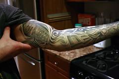 160/365 (BCalico) Tags: new chicago money black tattoo grey nokia arm era 365 calling bicep luckykattattoo