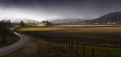 Ruthven Barracks (Joe Dunckley) Tags: uk mountains rain landscape scotland highlands roads lanes cairngorms kingussie strathspey ruthvenbarracks inchmarshes