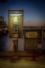Pac Bell (Justin in SD) Tags: ocean news canon paper bay call downtown phone sandiego dusk sd payphone pay newsstand phonebook hdr pacbell sandiegobay pacificbell canon60d