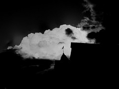 Sheds, Victoria, Australia (Rod Waddington) Tags: white black clouds north australia victoria east alpine valleys