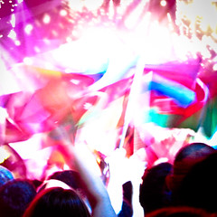 An attempt at taking a picture of the Turkish entry to Eurovision