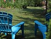 The Neighbours  Blue Chairs: Over The Fence (Sue90ca Second Time Around...Sick Again!) Tags: blue sun hot yard canon neighbours chiars 60d 55250mm