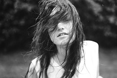 Downpour (Anne Mortensen) Tags: portrait girl rain denmark anne blackwhite mortensen