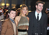 Josh Hutcherson, Jennifer Lawrence, Liam Hemsworth The Hunger Games premiere held at the O2 - Arrivals. London, England