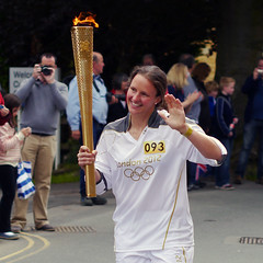 Olympic Torch Relay 2012 (Andrew Lockie) Tags: rosie hamilton gloucestershire torch olympic relay 2012 chipping campden explored